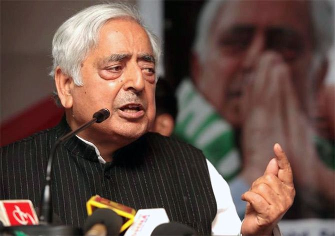 Mufti Mohammad Sayeed, leader of the People's Democratic Party.