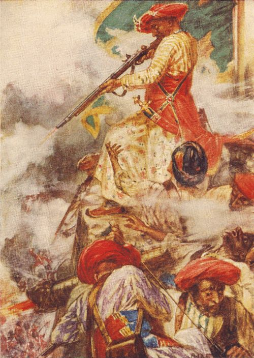 Depiction of Tipu Sultan at the 1799 Siege of Seringapatam