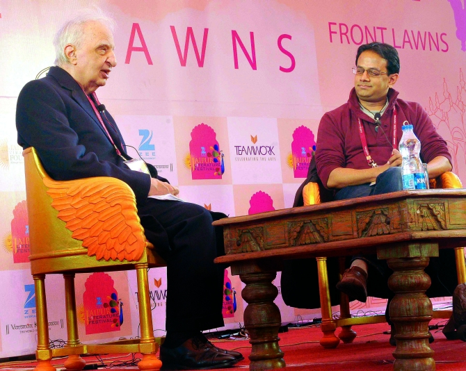 Ved Mehta at the Jaipur Literature Festival.