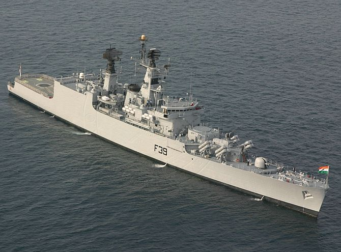 Warship INS Betwa was detected with hairline fracture in its dome that resulted in ingress of sea water into the system