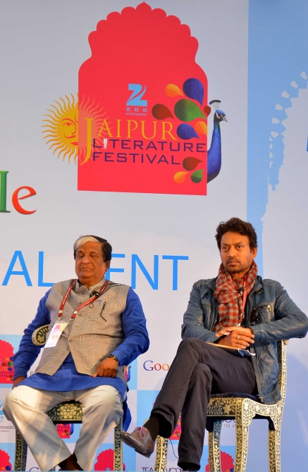 Actor Irrfan Khan at the Jaipur Literature Festival