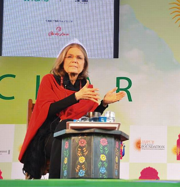 Activist and author Gloria Steinem at the Jaipur Literary Festival on Friday, January 17.