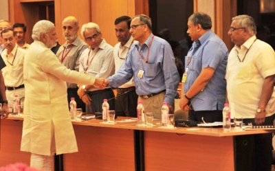 Prime Minister Narendra Modi meets secretaries in the Union government