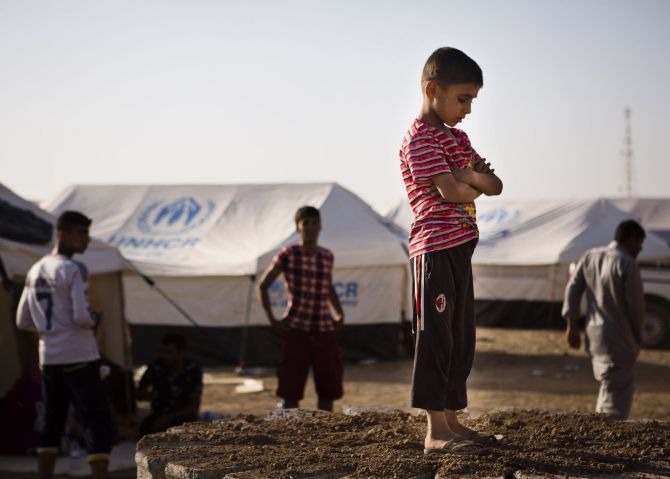 A camp for internally displaced people on the outskirts of Arbil in Iraq's Kurdistan region.