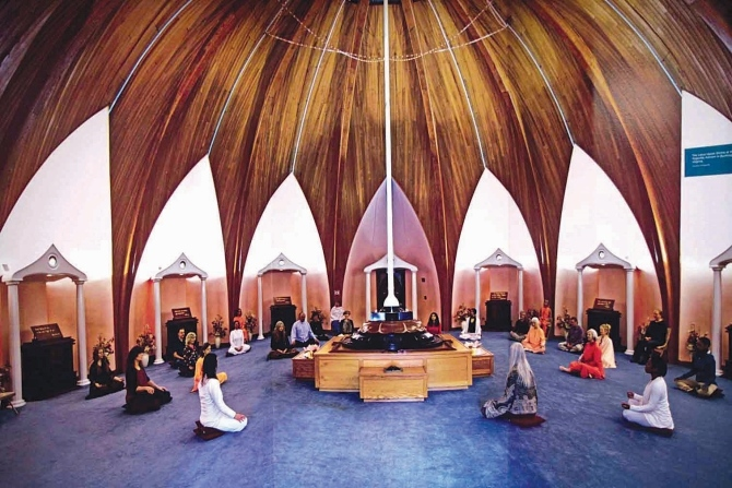 A recreation of a lotus room at the Yogaville Ashram in West Virginia.