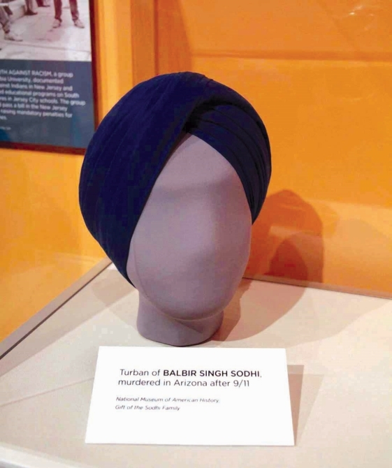 The turban of Balbir Singh Sodhi, who was murdered in the aftermath of the September 11 attacks.