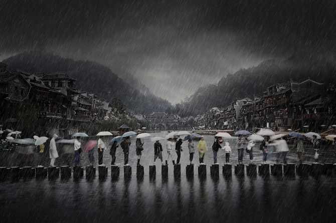 Winner 'Travel': 'Rain in ancient town' by Li Chen, China