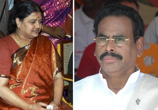 (Left) Sasikala (Right) Natarajan