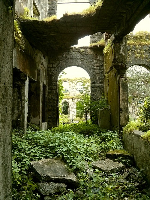 The abandoned Shakti Mills compound in Mahalaxmi, Mumbai