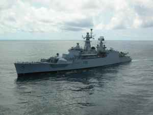 Fire on naval ship in Mumbai; three hurt