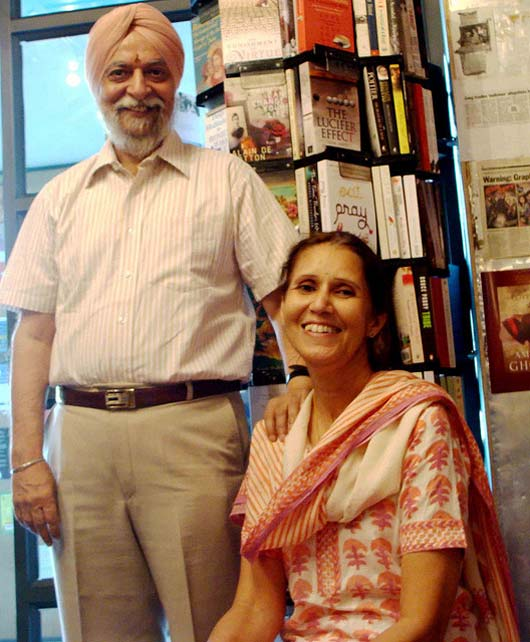 Mr K D Singh at his bookshop. Photograph kind courtesy: Mayank Austen Soofi.