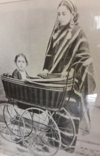 An early photograph of Nehru with his mother.