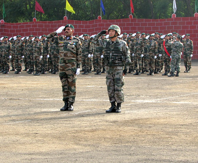 PHOTOS: India, China military drills begin