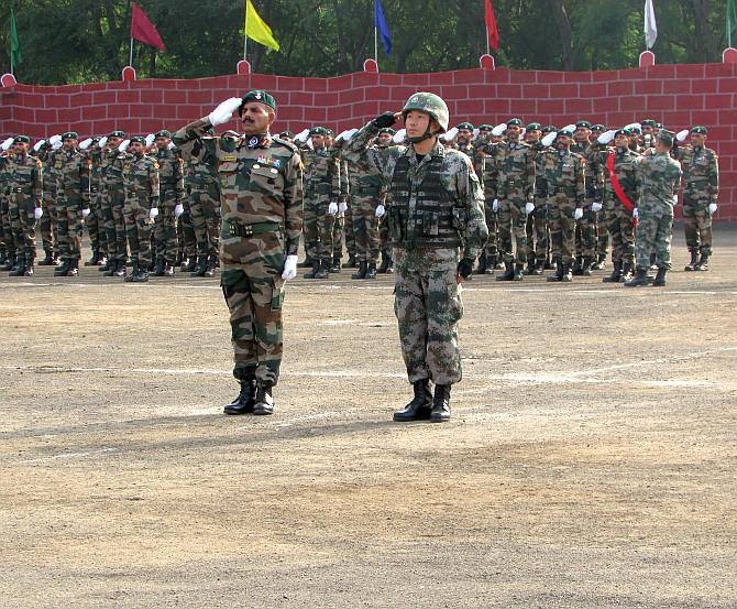 PHOTOS: India, China military drills begin
