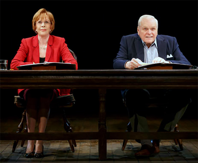 Carol Burnett, left, and Brian Dennehy perform Love Letters. Photograph: Carol Rosegg