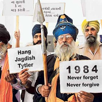 A protest against the anti-Sikh riots of 1984