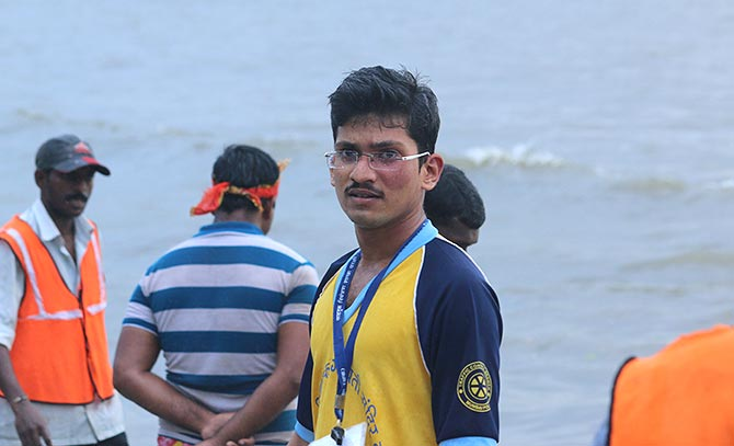 Visarjan at Shivaji Park beach, central Mumbai
