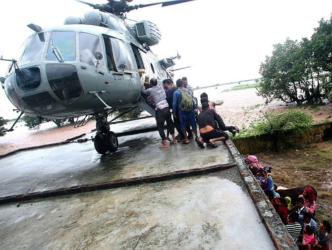Defence forces battle force of nature in J & K to rescue thousands