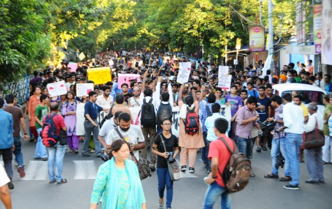 Jadavpur University students protest