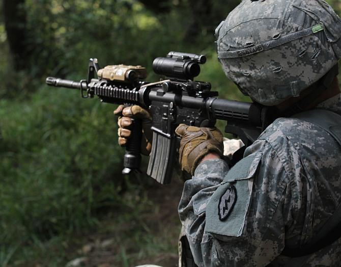 Top guns: India's Insas vs America's M-4 rifles