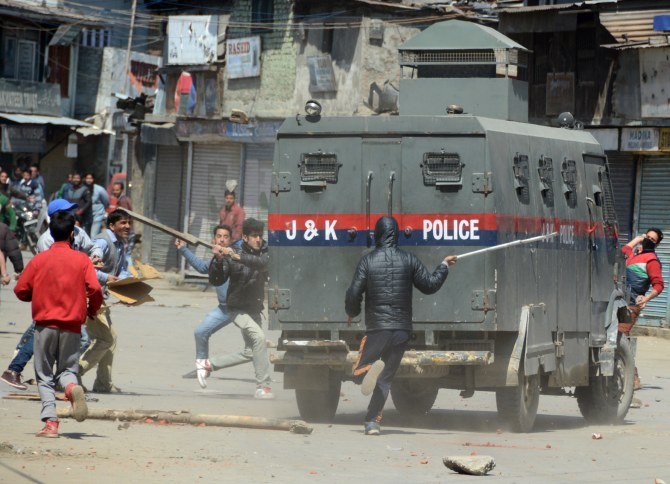 Protests in Srinagar
