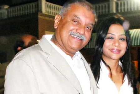 Peter Mukherjea with his wife Indrani.