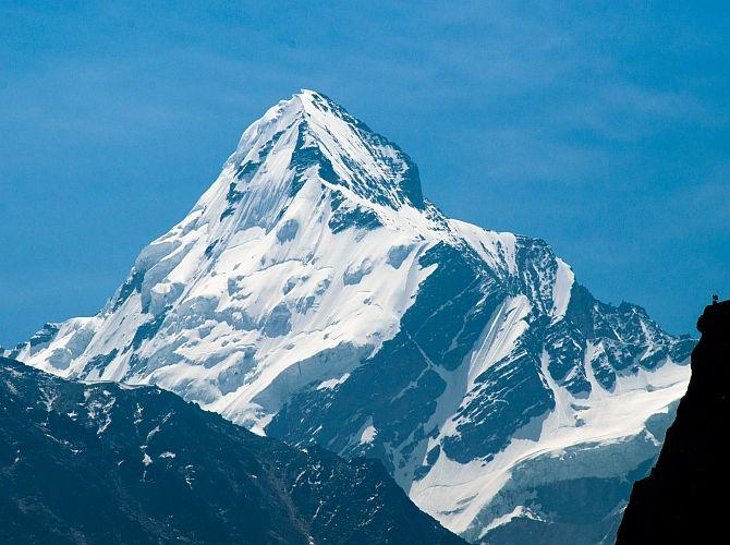 The majestic Gangotri glacier. Photograph: Kind courtesy Arpit Rawat/Wikimedia Commons