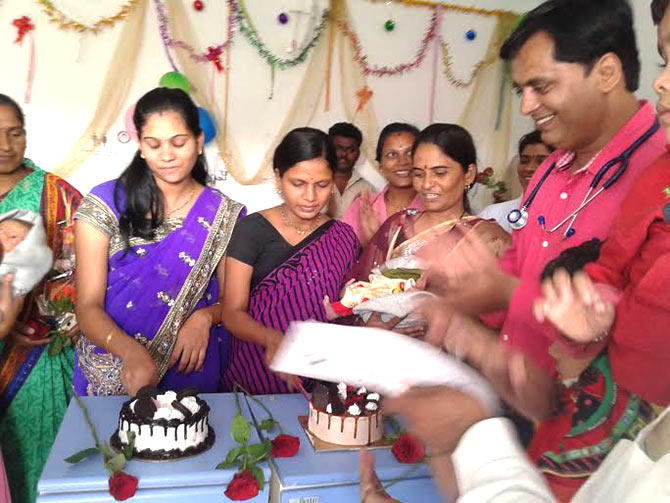 Celebrating with mothers who have delivered baby girls