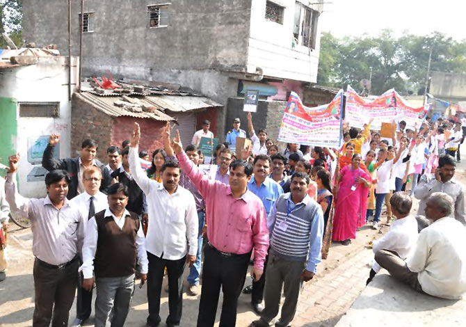 A rally to increase awareness about the girl child