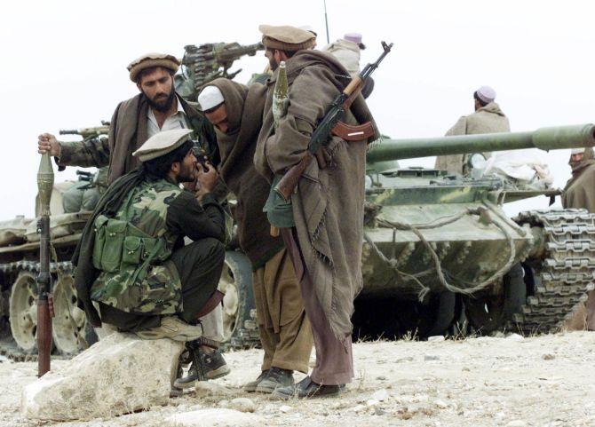 Taliban terrorists in Afghanistan