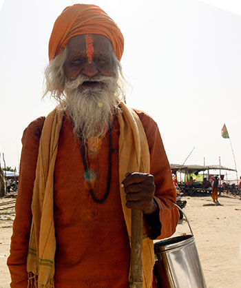 A sadhu at the Sangam in Allahabad
