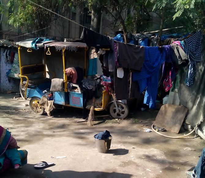 Arvind Kejriwal's government will need to deliver on its promise of creating more jobs for the youth, if it wants to build faith among poor voters, a resident of Trilokpuri earlier told Rediff.com Photograph: Upasna Pandey