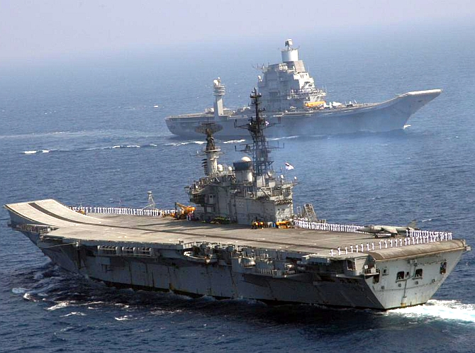 When India flexed its naval muscle