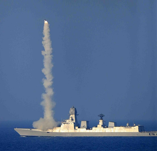 The successful vertical launch of the Brahmos, the supersonic long range anti- shipping cruise missile, from the stealth destroyer INS Kolkata, was a major milestone for the Indian Navy.