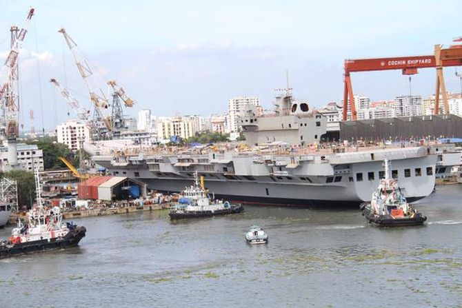 PHOTOS: The INS Vikrant is HERE!