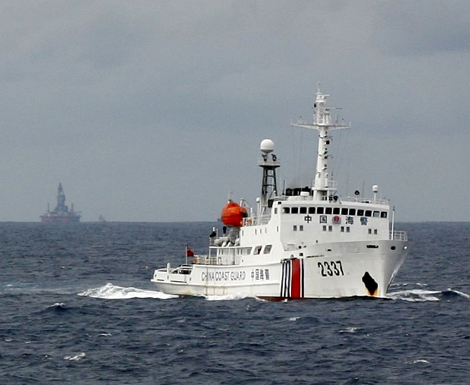 Chinese Coast Guard vessel in the South China Sea
