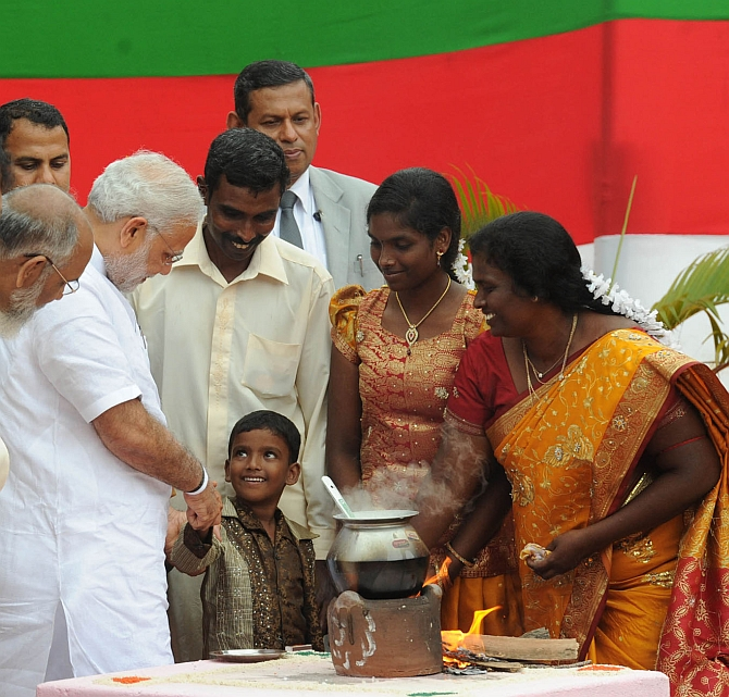 Modi showers promise of achche din on Jaffna Tamils - Rediff.com India News