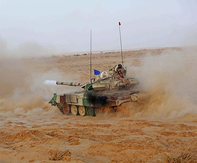 Army displays firepower at Pokhran