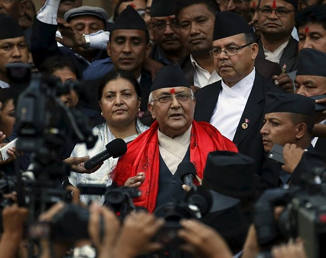 Nepalese Prime Minister K P Sharma Oli told reporters November 6, 2015 that the blockade of key border points with India is 'more inhuman than a war'.