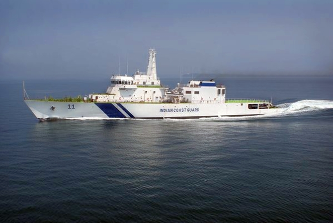 Samarth, Coast Guard's largest offshore patrol ship, enters service