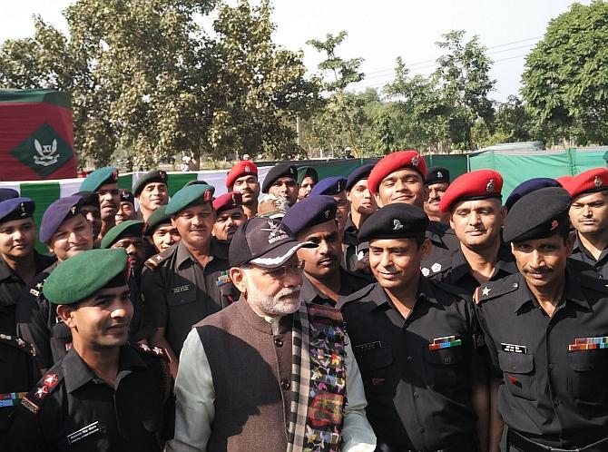 PIX: Modi celebrates Diwali with troops