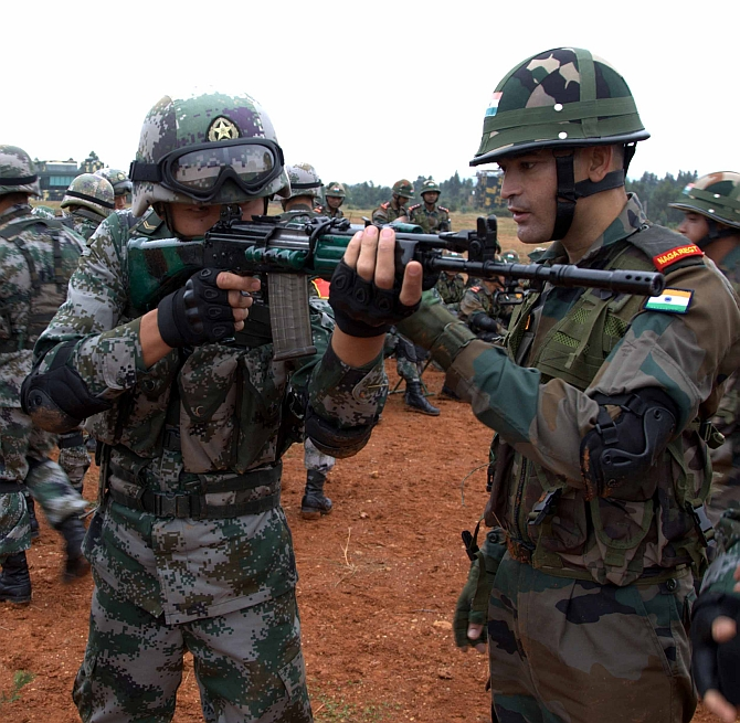 PIX: India and China in 'hand-in-hand' combat!
