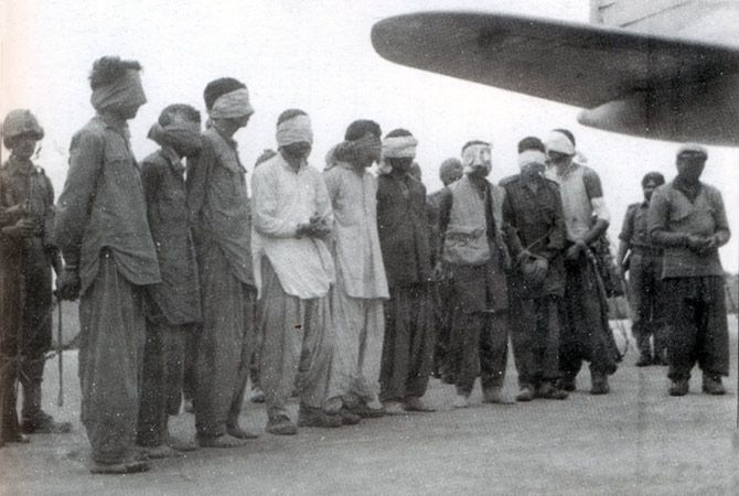 Pakistani infiltrators captured in the Kashmir valley in 1965.