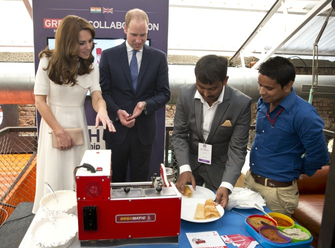Duke and Duchess Cambridge with Sahil Khan and Eshwar Vikas