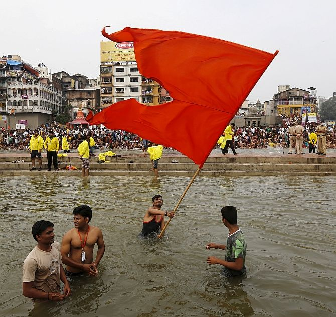 Devotees at the Kumbh Mela