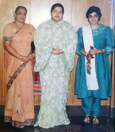 J Jayalalithaa with Roopa Unnikrishnan and her mother