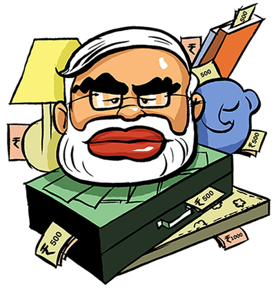 Modi's money talk: A tale of 3 Budgets