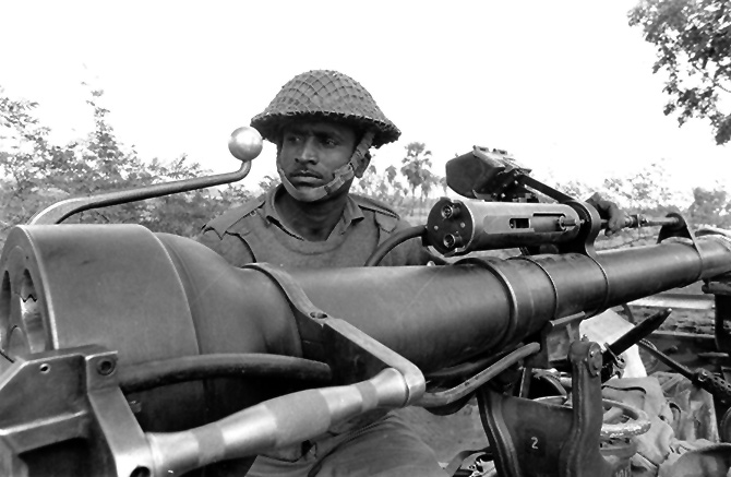 An Indian soldier in the 71 campaign