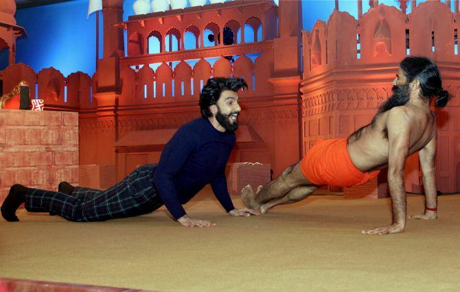 Ranveer Singh with Baba Ramdev
