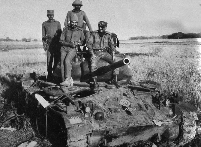 An enemy tank shot down by a RCL gun